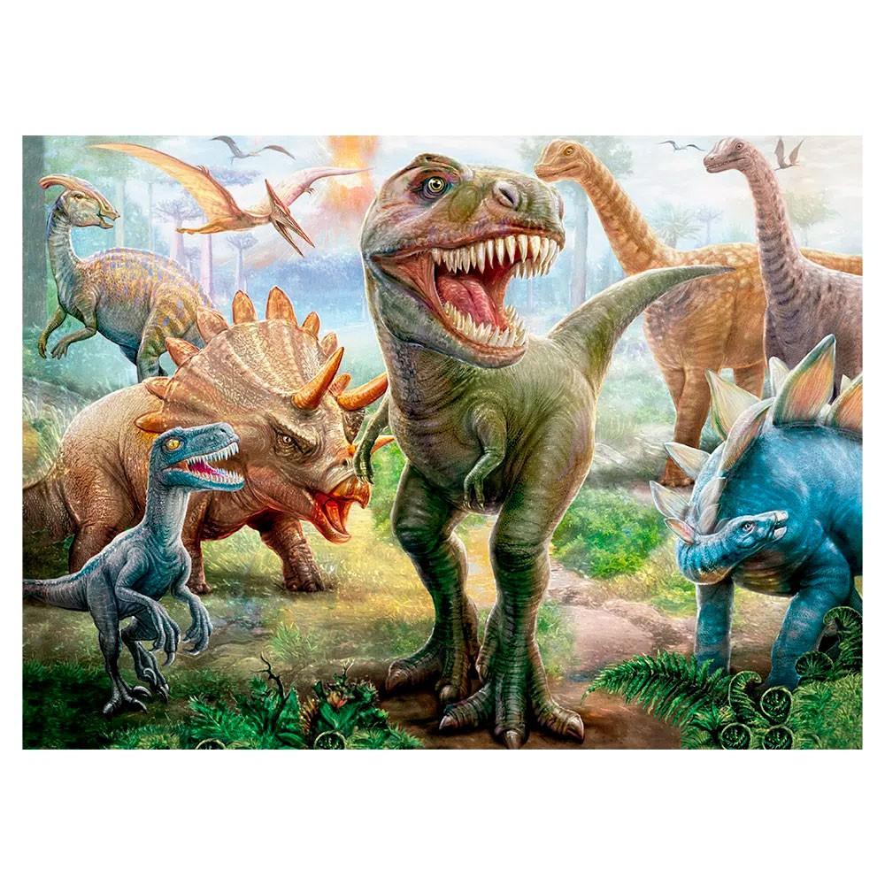 Quebra-Cabeça Dinossauros 100 Peças - Grow