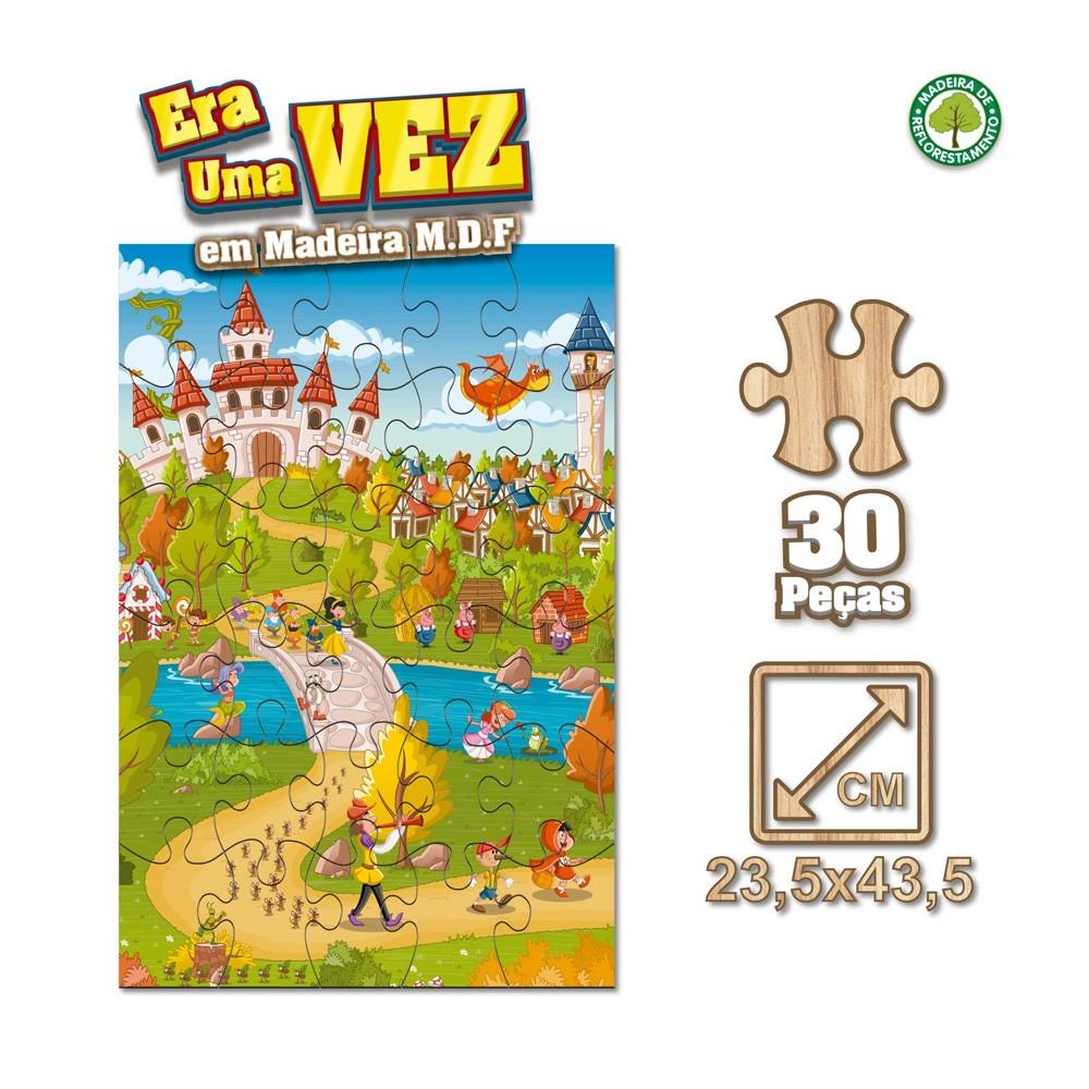 Quebra-Cabeça Era Uma Vez 30 peças - Pais & Filhos