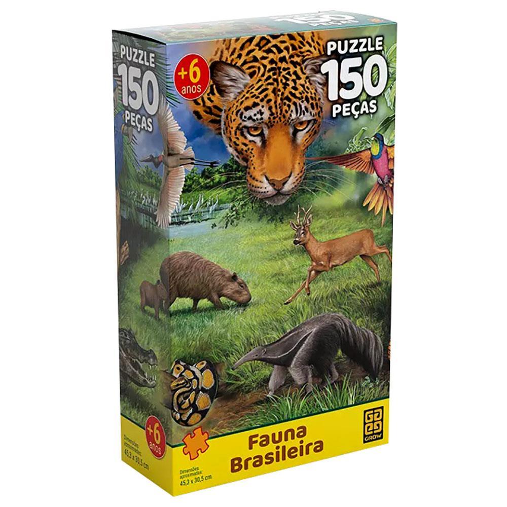 Quebra Cabeça Fauna Brasileira 150 Peças