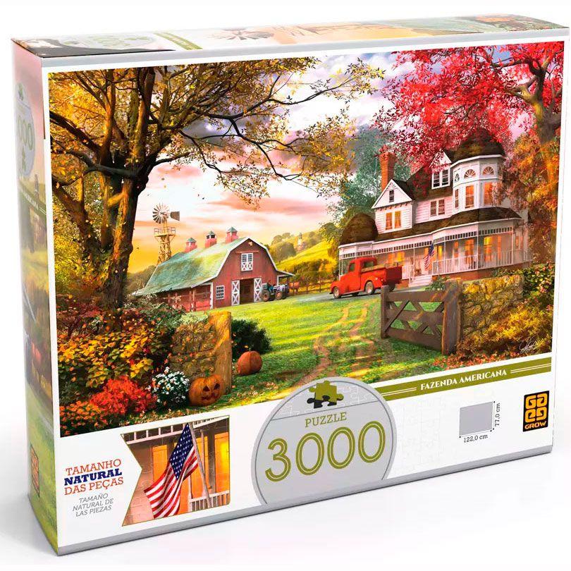 Quebra Cabeça Fazenda Americana 3000 peças