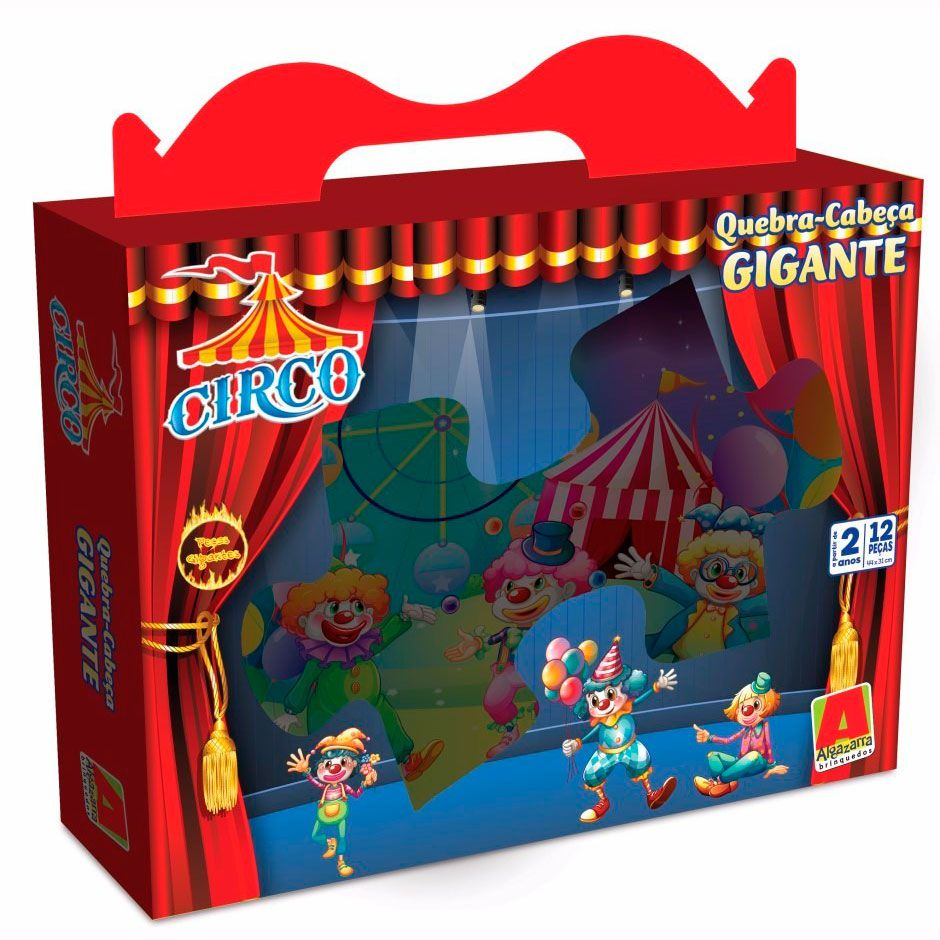 Quebra-Cabeça Gigante Circo 12 peças