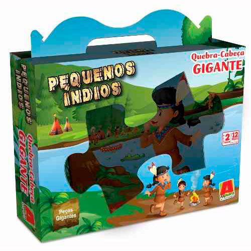Quebra-cabeça Gigante Pequenos Índios 12 peças