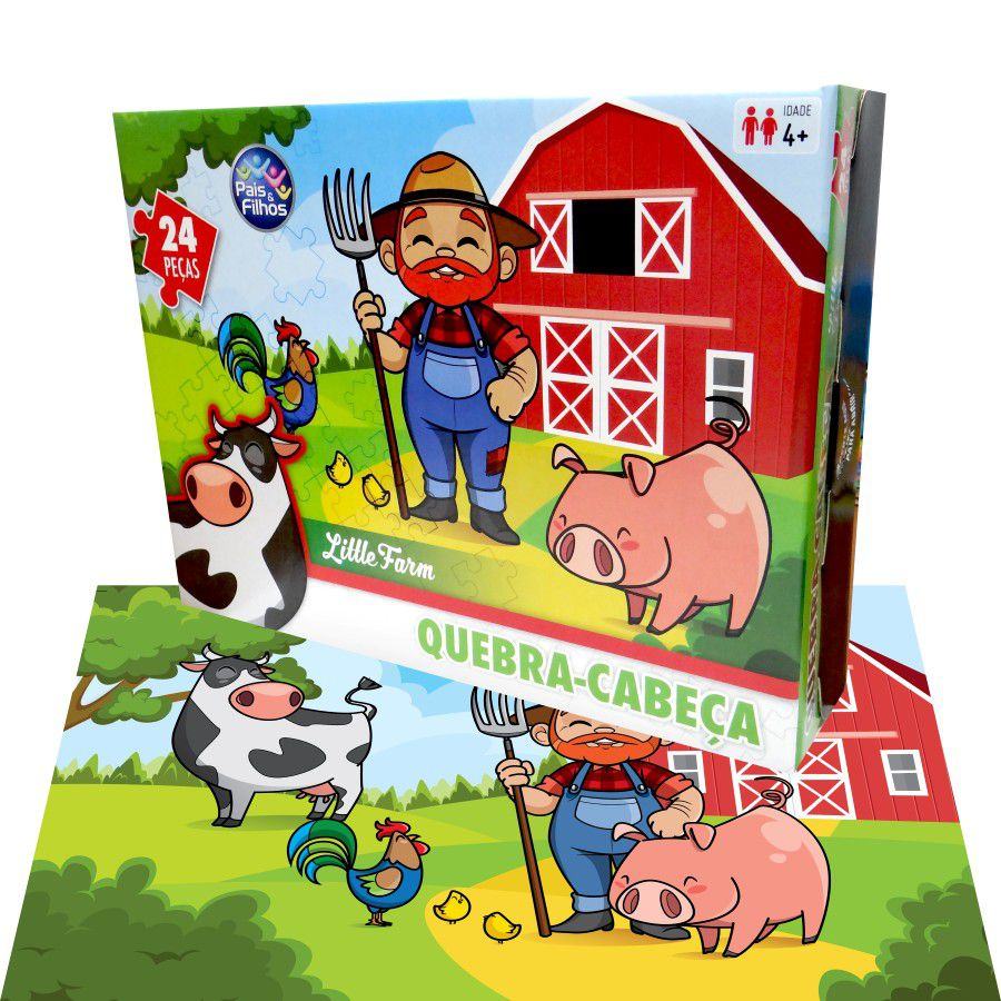 Quebra cabeça little Farm 24 Peças Premium