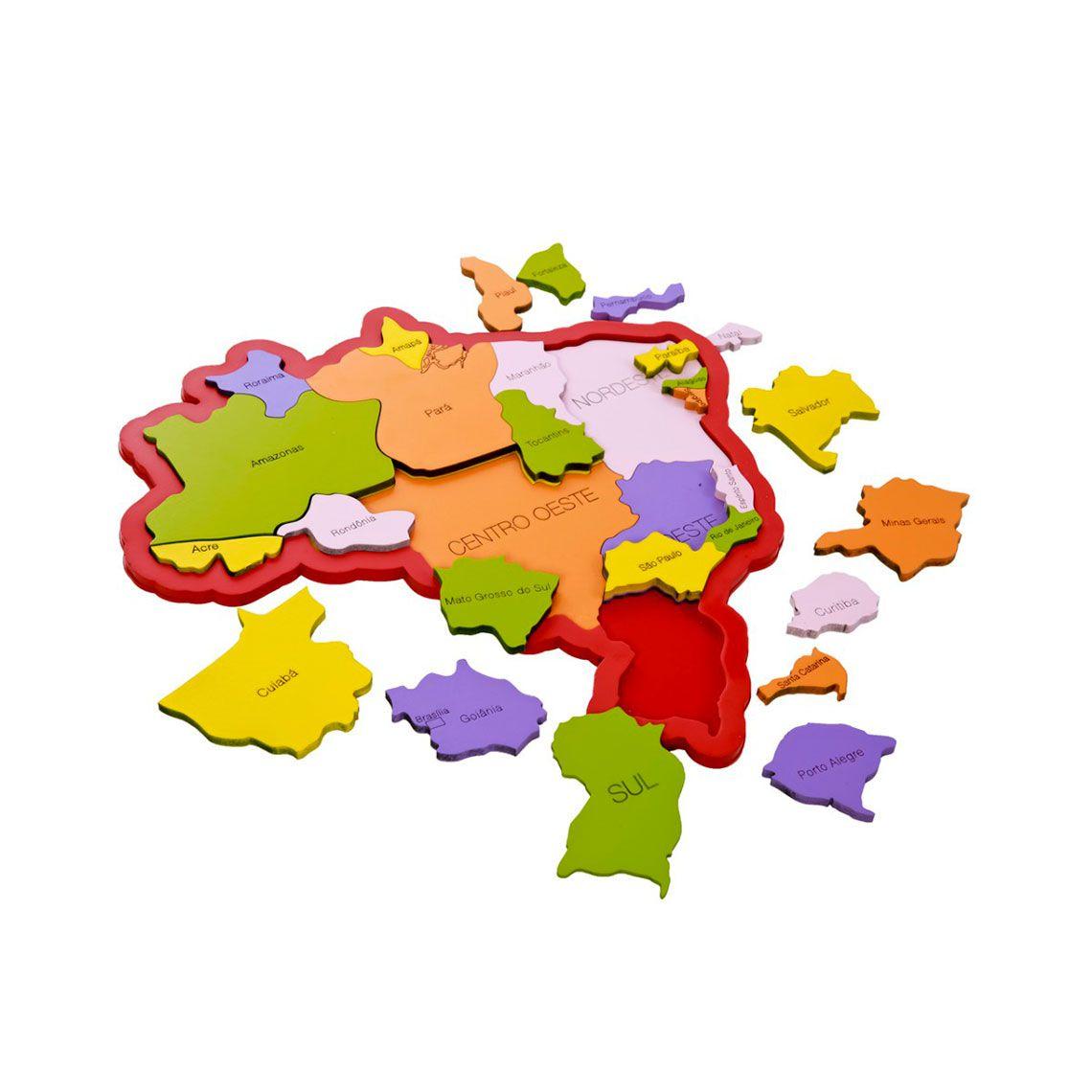 Quebra-Cabeça do Mapa do Brasil - New Art