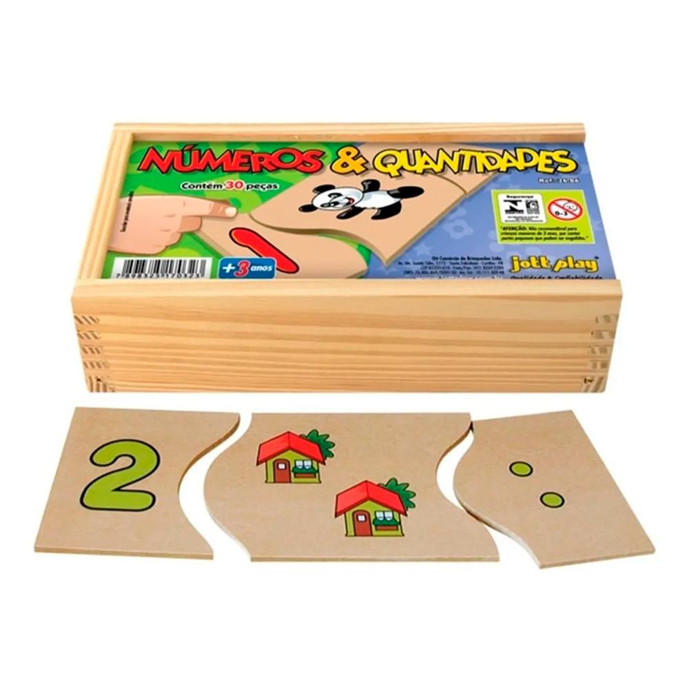 Quebra Cabeça Números e Quantidades com 30 Peças - Jott Play