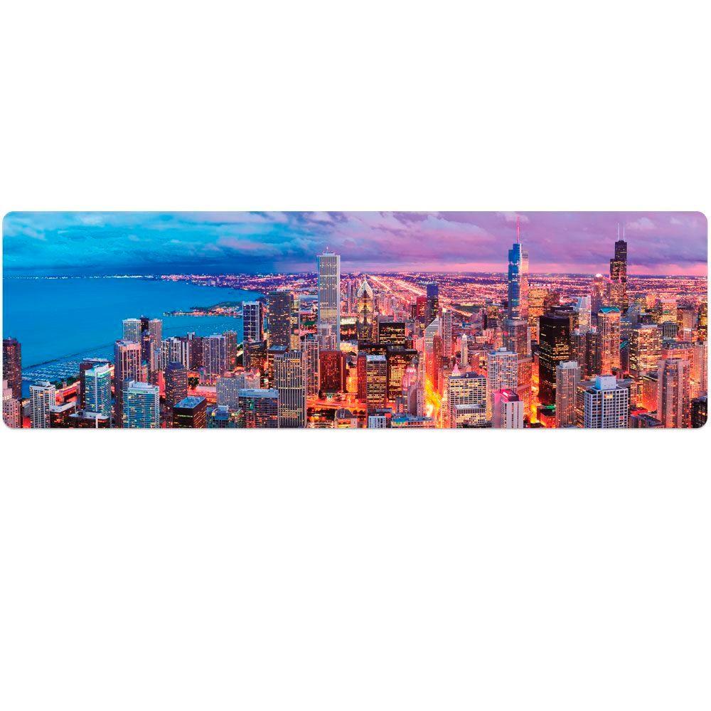 Quebra Cabeça Panorâmico Skyline Chicago 1500 Peças - Toyster