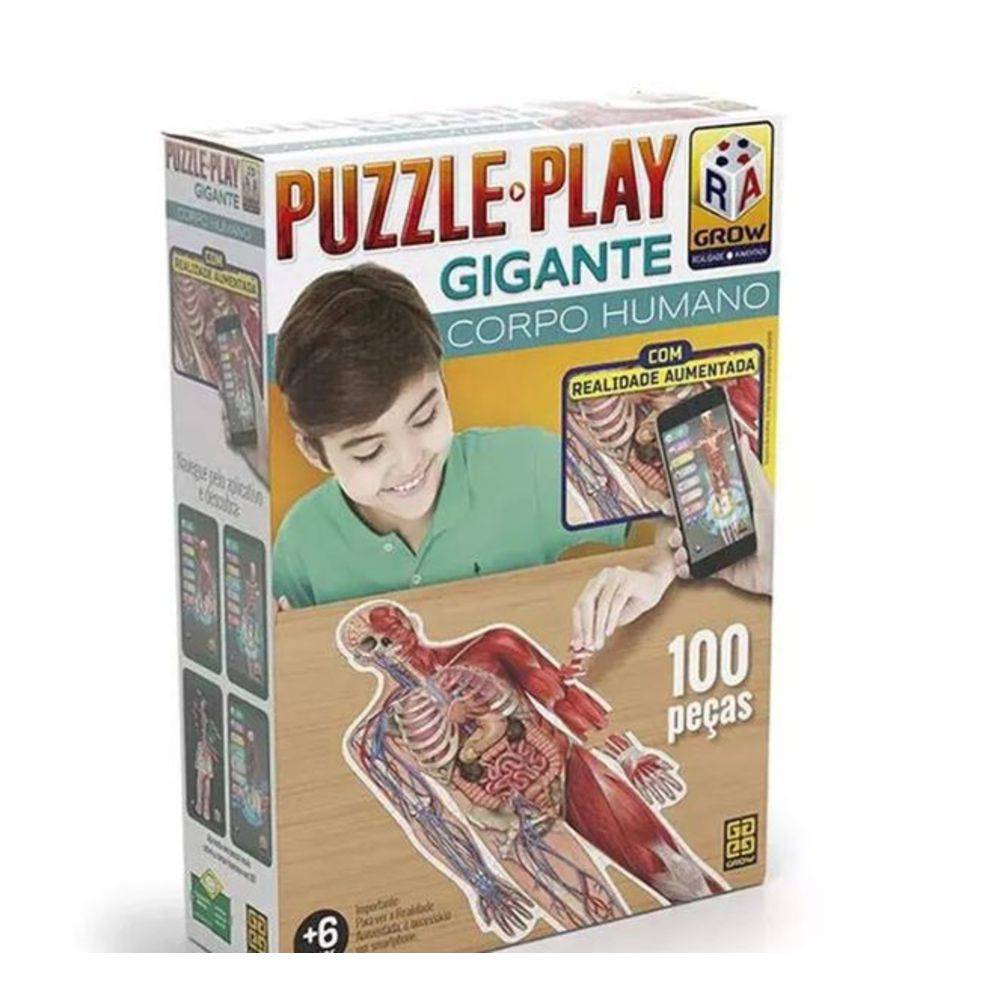 Quebra Cabeça Play Gigante Corpo Humano 100 Peças
