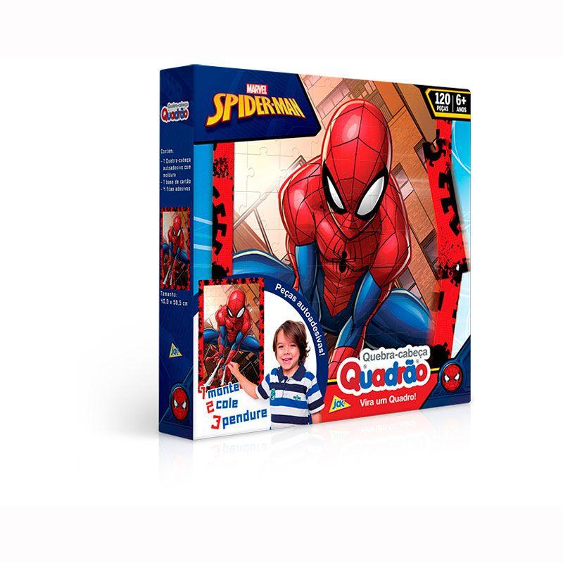 Quebra-Cabeça Quadrão Spider-Man 120 peças - Toyster