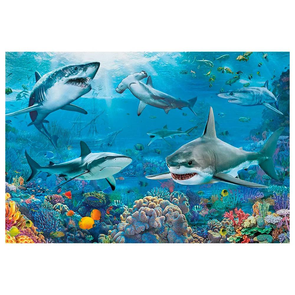 Quebra-Cabeça Tubarões 150 Peças - Grow