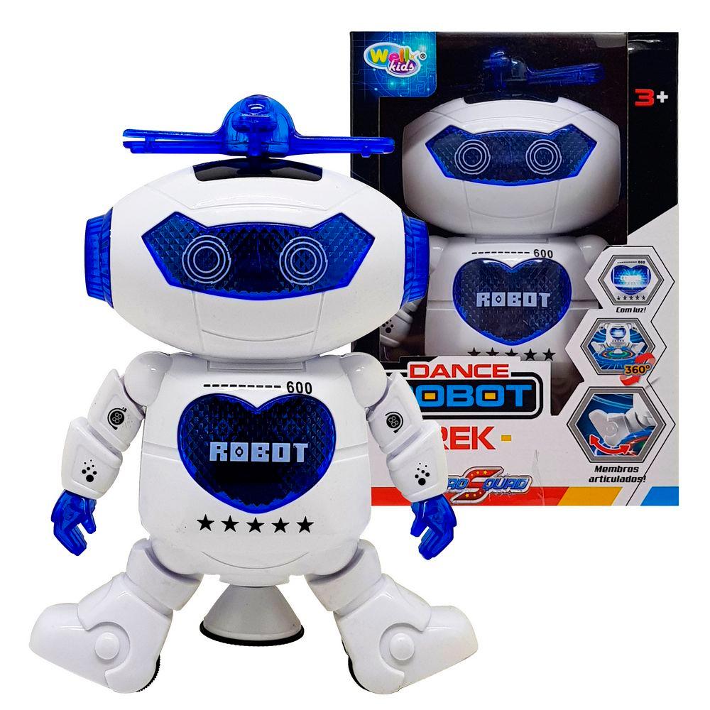 Robô Dançarino com Luz e Som Hero Squad Dance Robot Trek 360º