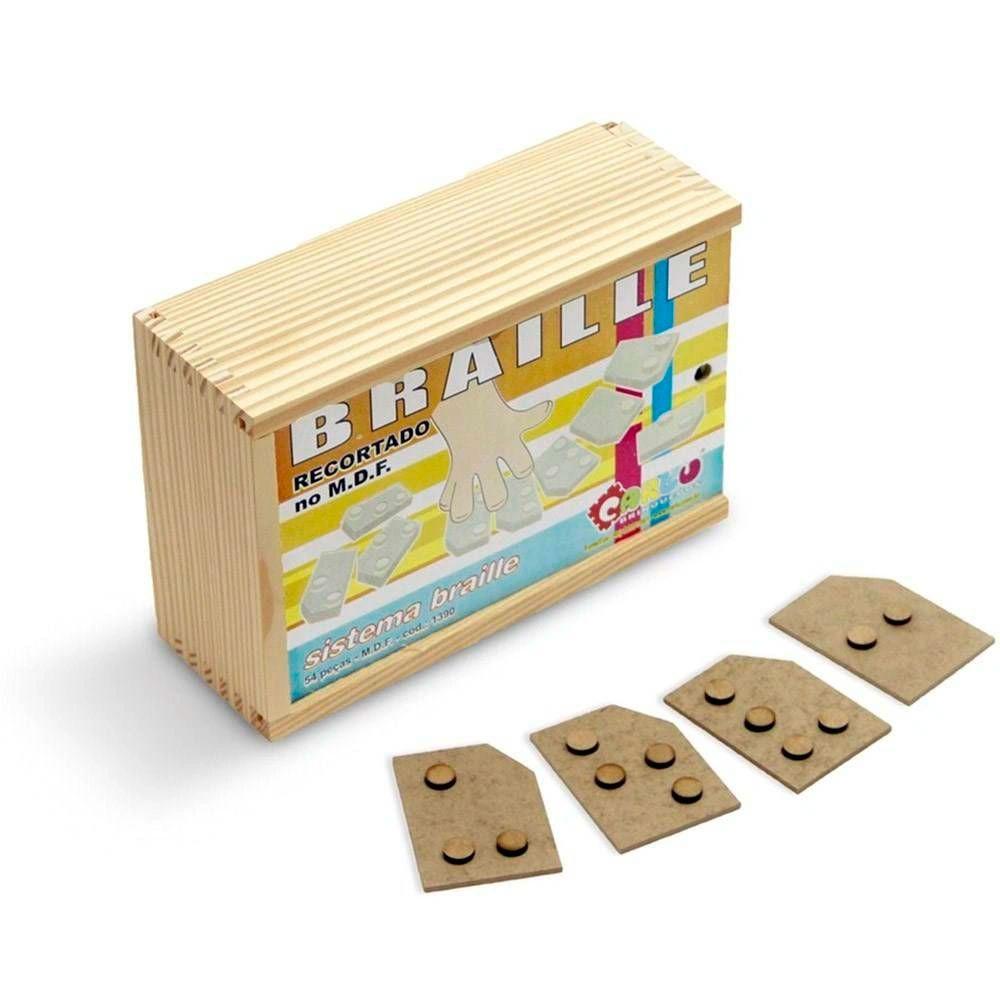 Sistema Recortado em  Braille 54 Peças - Carlu