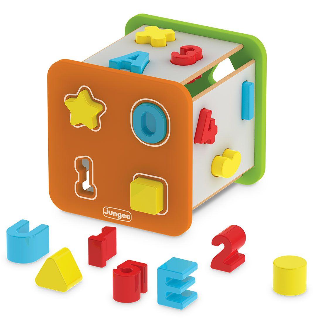 Super Cubo Didático Formas - letras e Números