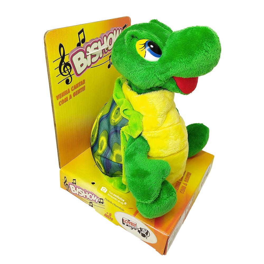 Tartaruga de Pelúcia que Canta e Dança Bishow - Lovely Toys