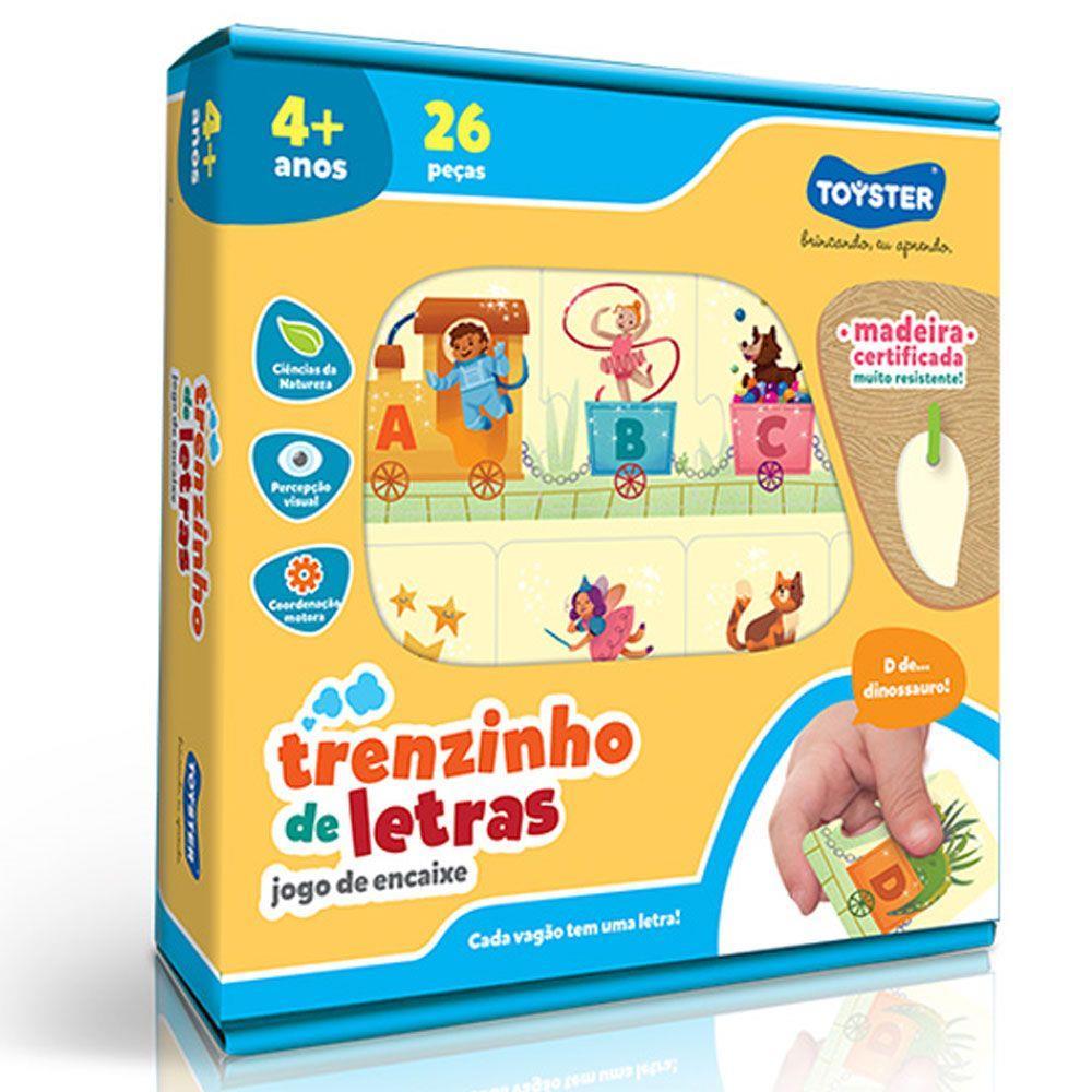 Trenzinho de Letras Jogo de Encaixe - Toyster