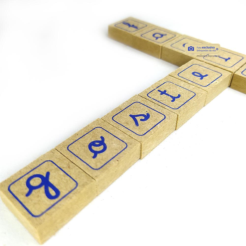 Vamos Formar Palavras com Letras Maiúsculas e Minúsculas 60 Peças em Madeira Mdf - Jott Play