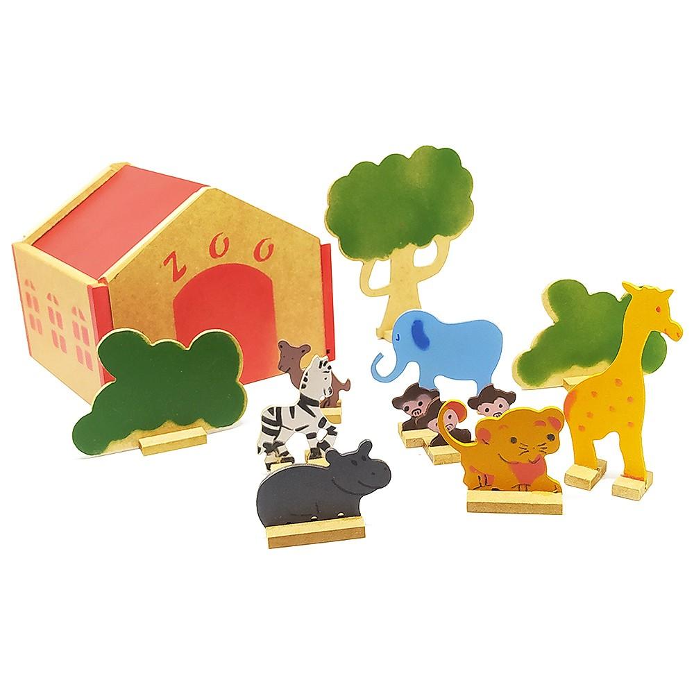 Zoológico - Brinquedo de Madeira
