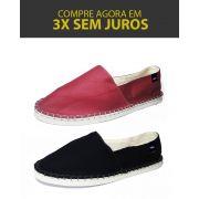 Kit 2 Pares de Alpargatas Relax MONARCA Vermelha Bordô e Preta