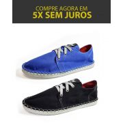 Kit 2 Pares de Tênis Casual MONARCA Urban Azul Royal e Preto