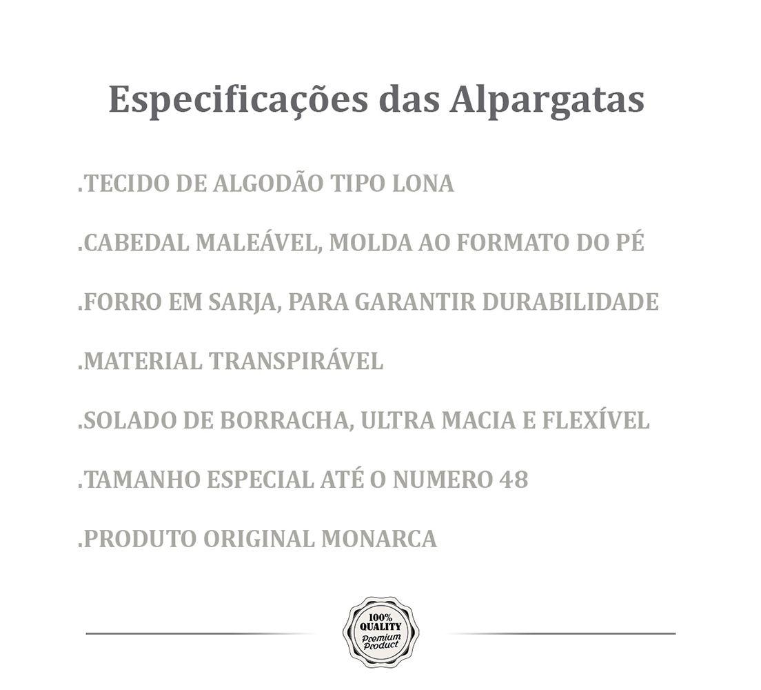 Alpargata MONARCA Náutica Azul