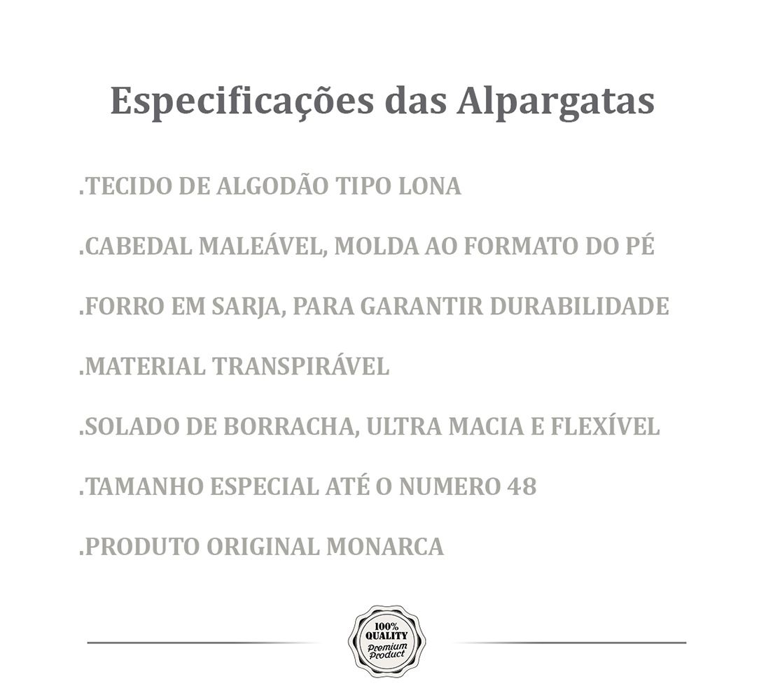 Alpargata Relax MONARCA Cinza Moletom