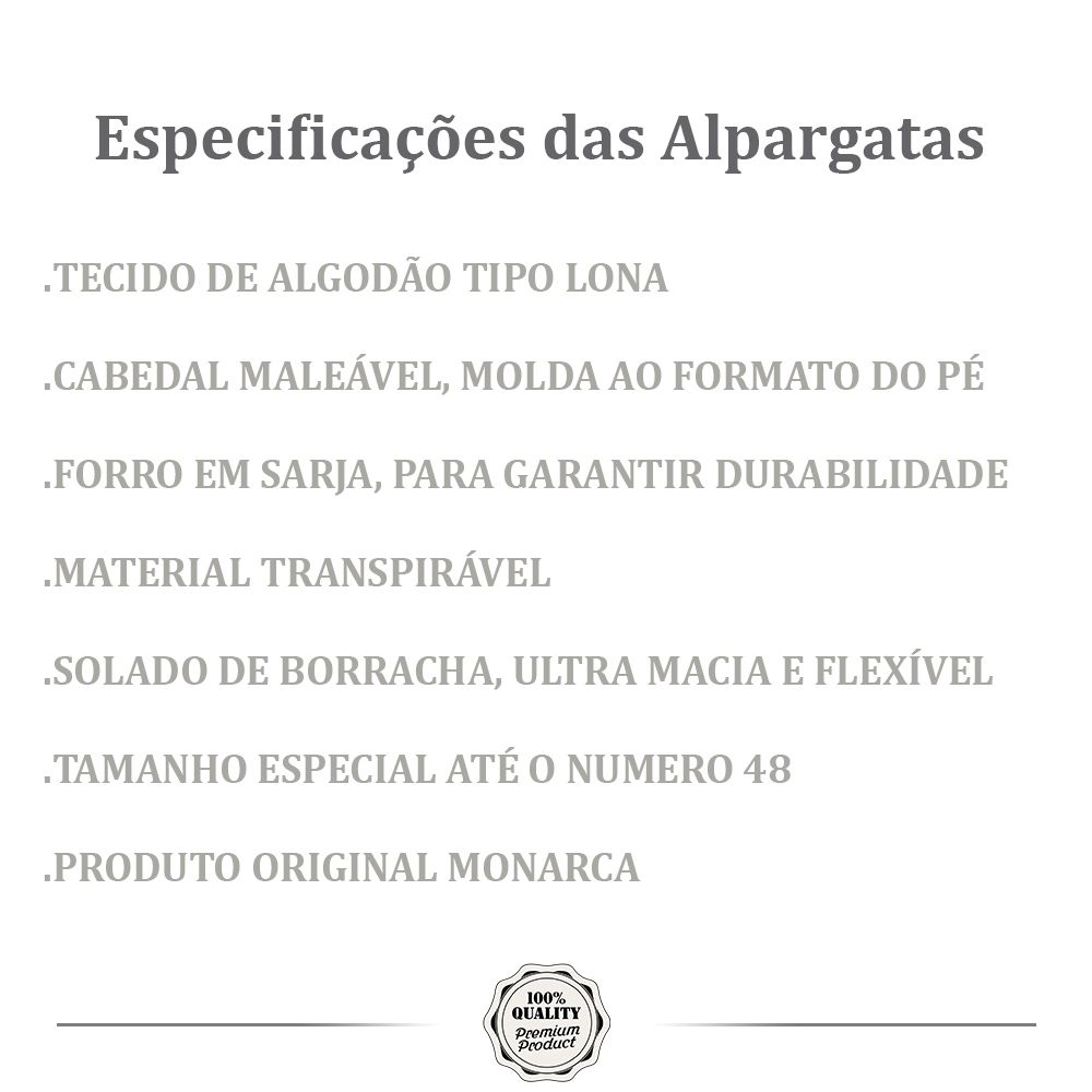 Alpargata Relax MONARCA Preta
