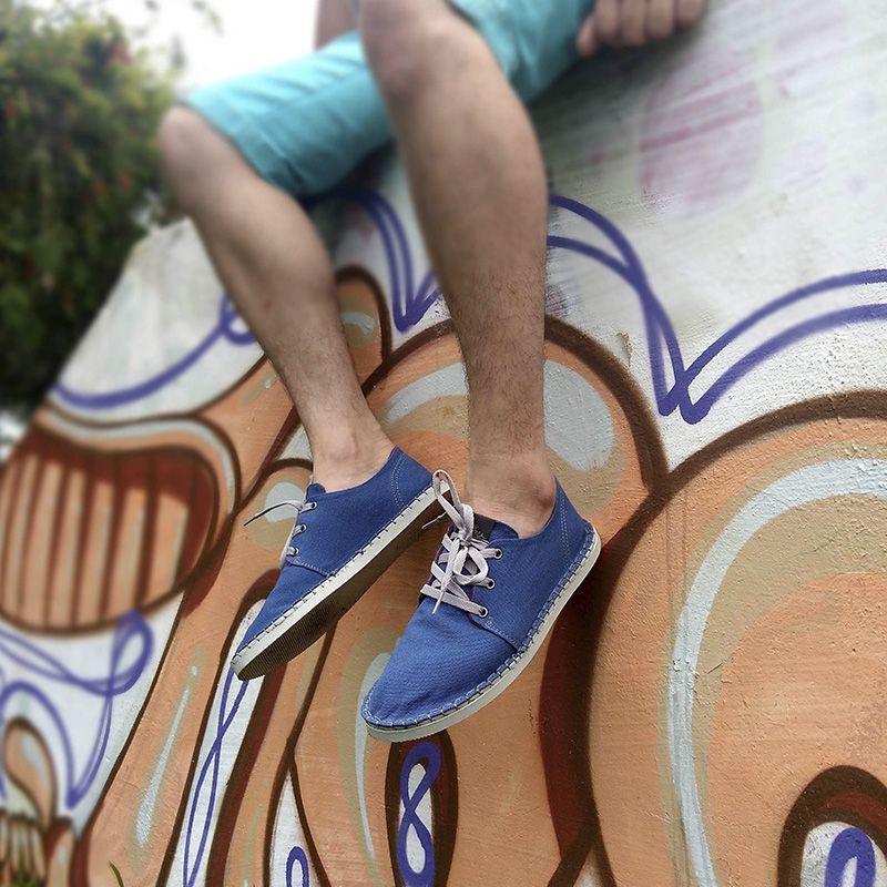 Kit 2 Pares de Tênis Casual MONARCA Urban Azul Royal e Preto