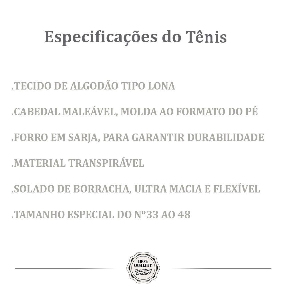 Tênis Casual MONARCA HOOP Branco/Azul/Preto
