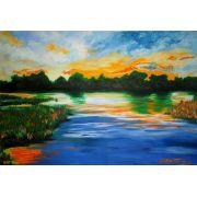 Lindo quadro decorativo em óleo - 50 x 71 cm