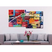 Painel Decorativo Abstrato Hereda nerefutebla 73 x 136 cm