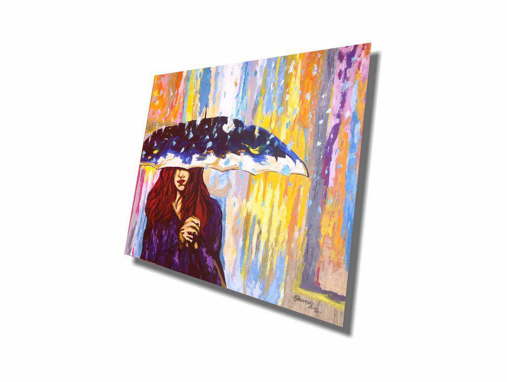 Bonito quadro decorativo pintado a mão