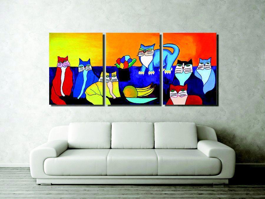 Lindo painel com releitura de quadros de Ademir Martins para sala pintado a mão