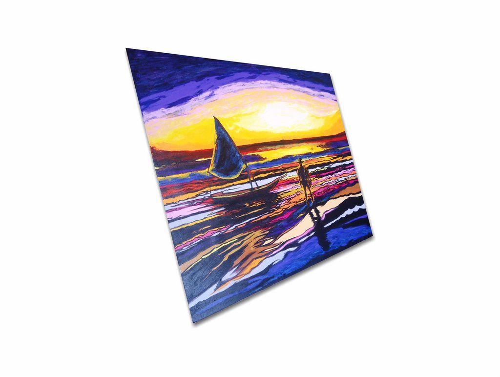 Lindo quadro pintado a mão para decoração