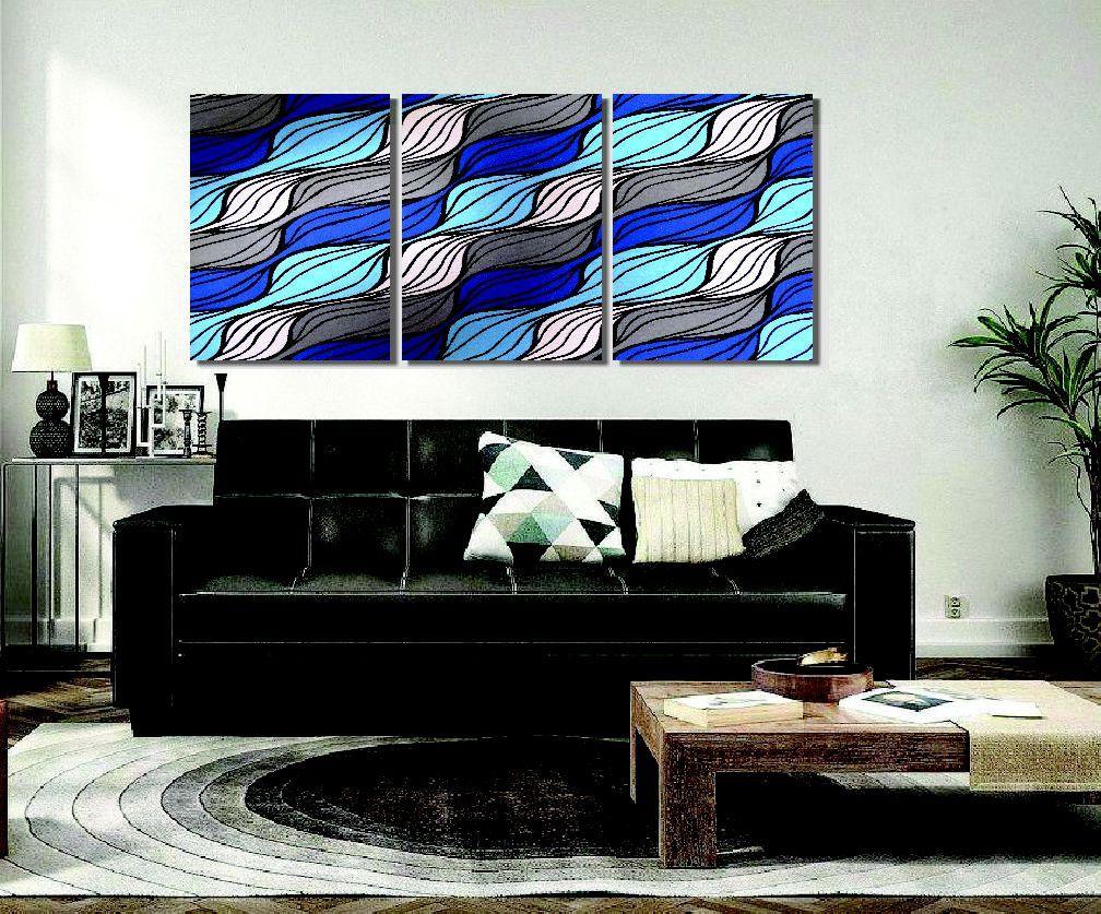 Lindo quadro painel abstrato para sala pintado a mão