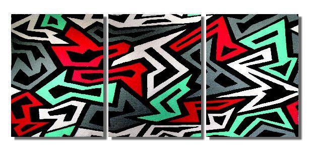 Lindo quadro painel abstrato pintado a mão