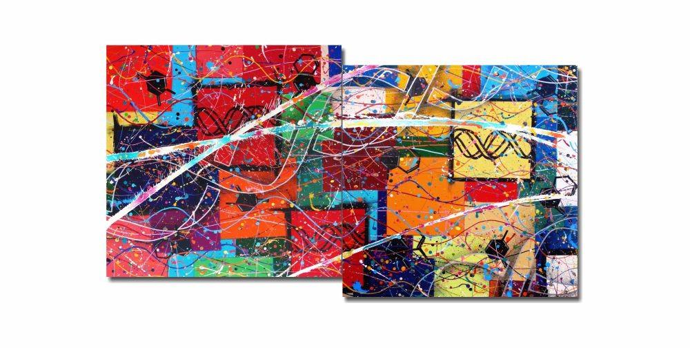 Painel Decorativo Abstrato Hereda nerefutebla 73 x 136 cm