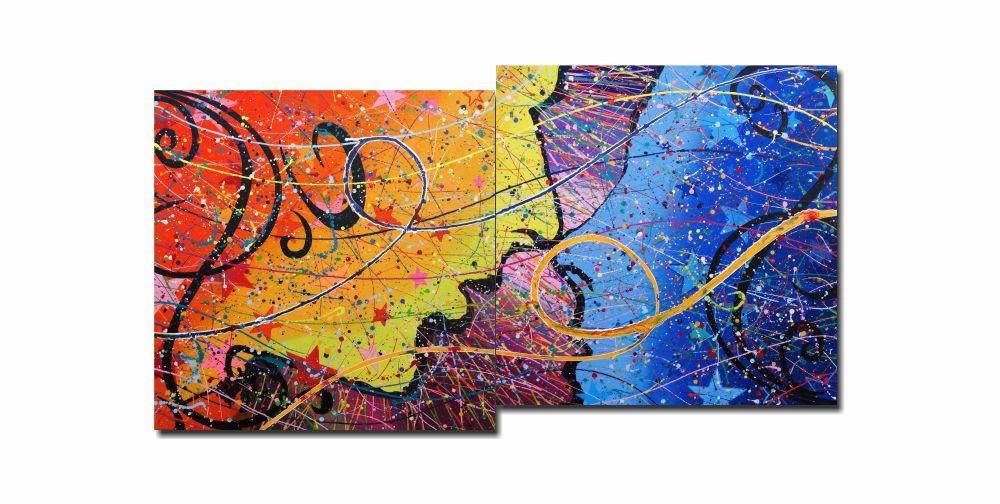 Painel Decorativo Duobla etera (Duplo etéreo) 73 x 136 cm