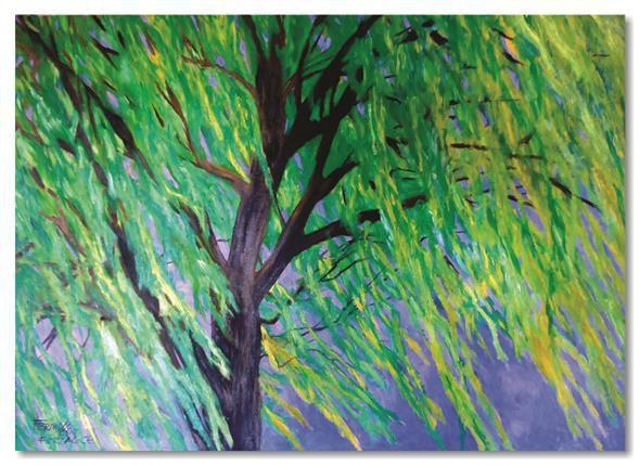 Pintura manual em óleo - Árvore 61 x 85 cm
