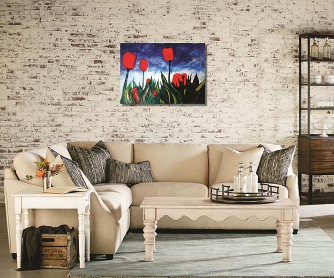 Pintura decorativa quadro em óleo - Flores 61 x 85 cm