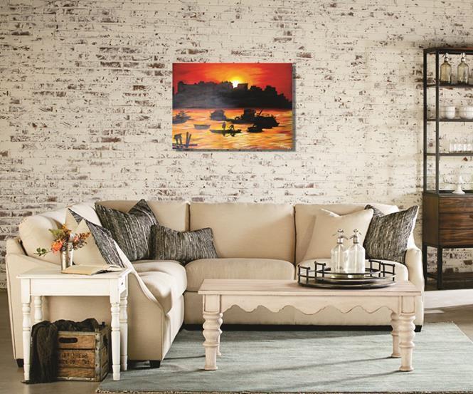 Quadro pintado a mão em óleo - Muralha 61 x 85 cm