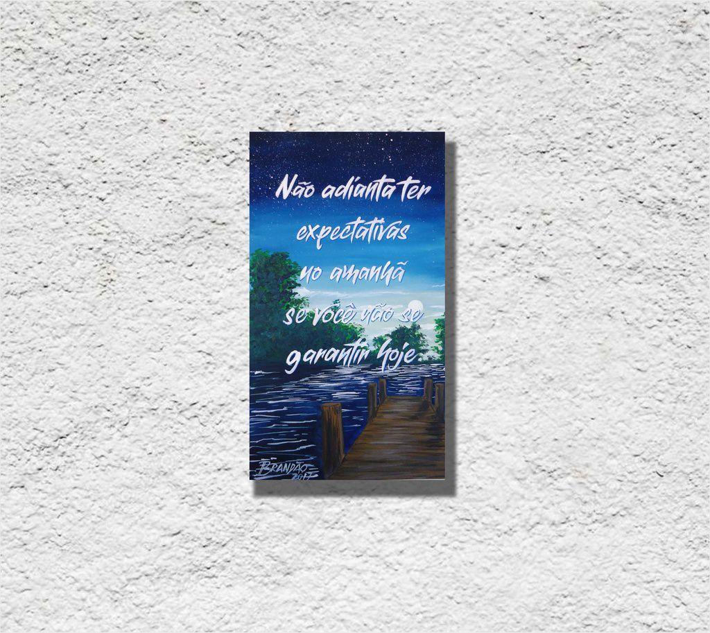Quadro com frase motivacional para decorar paredes