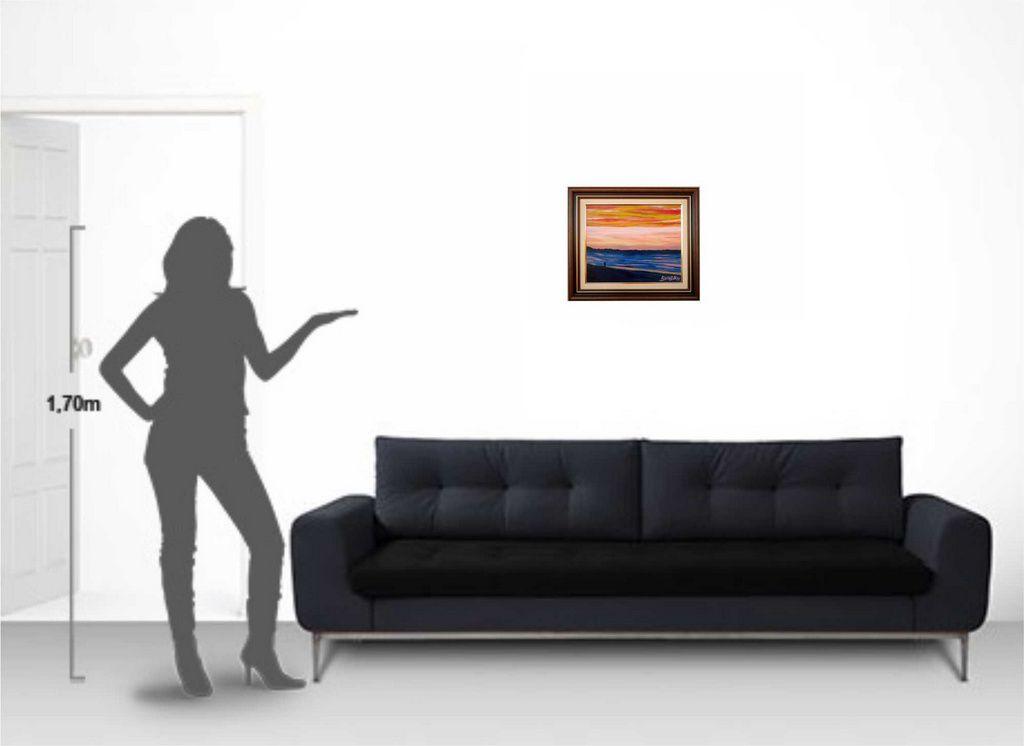 Quadro com pintura em óleo 48 x 57 cm - com moldura