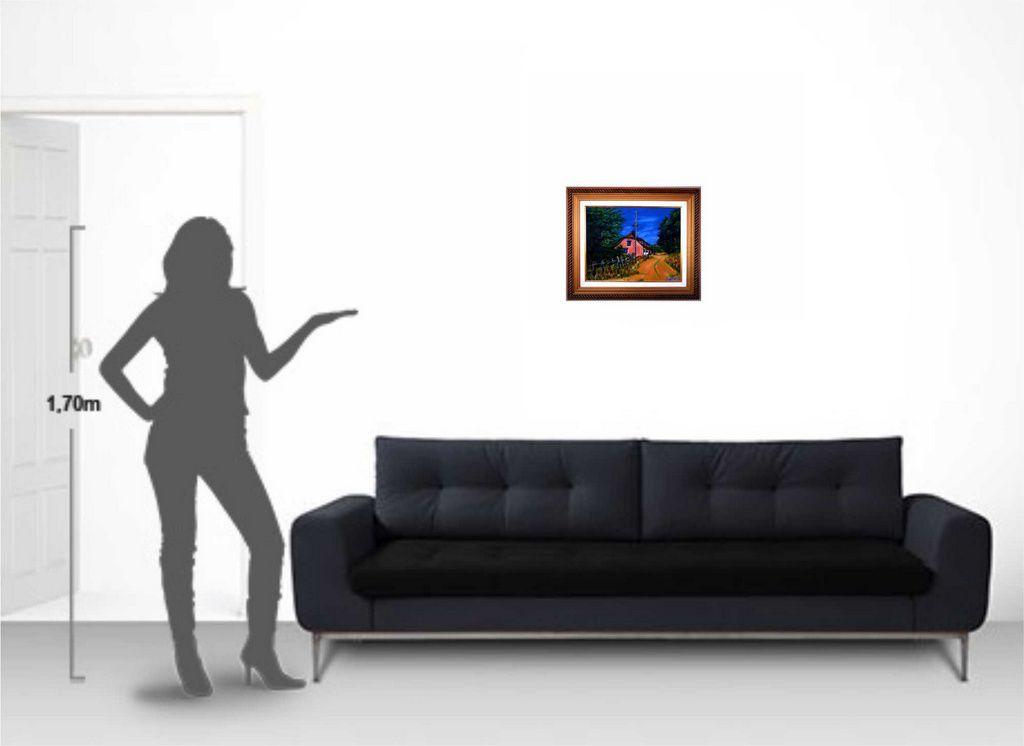 Quadro de pintura em óleo 48 x 57 cm na moldura