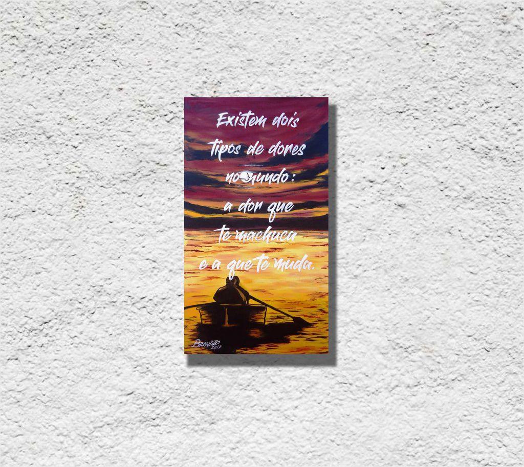 Quadro em óleo decorativo para parede