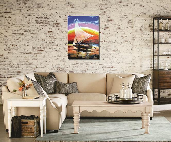 Quadro decorativo acrílico espatulado 85 x 61 cm