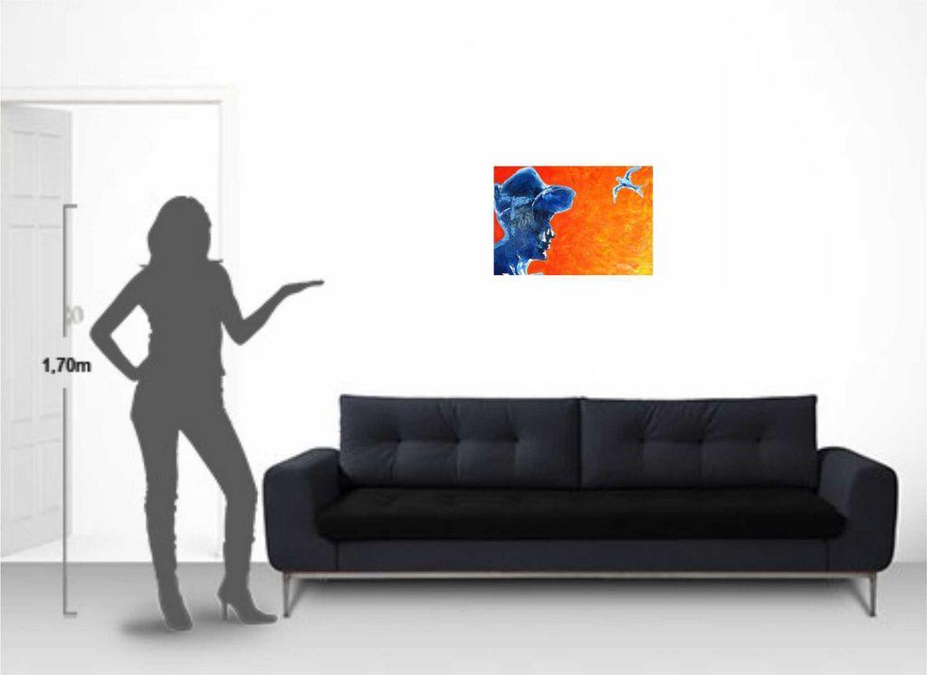 Quadro decorativo em óleo pintado a mão