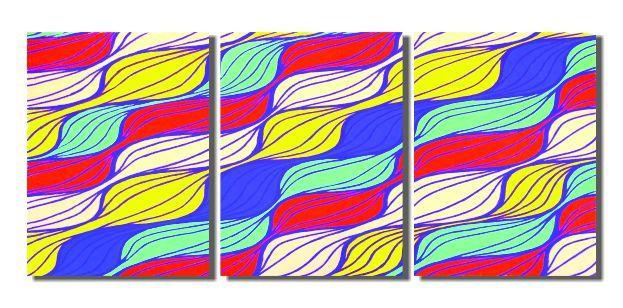 Quadro painel abstrato para decorar sala pintado a mão colorido