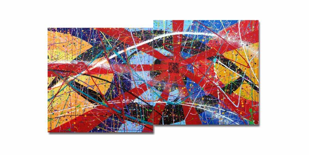 Quadro Painel Decorativo Duplo Okulo legi strekokodon 73 x 136 cm