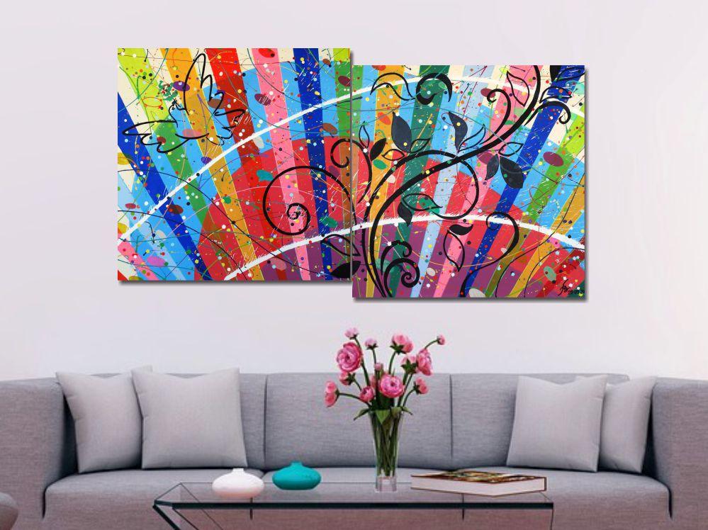 Quadro Painel Decorativo Paz e Diversidade 73 x 136 cm