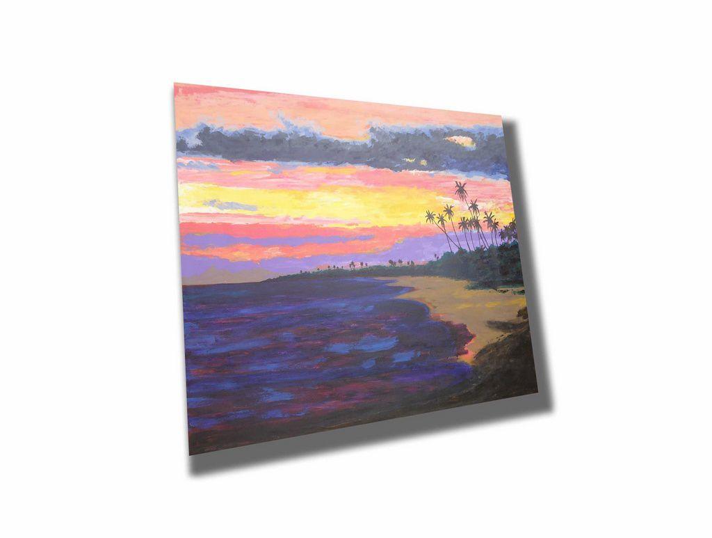 Lindo quadro para parede pintado a mão