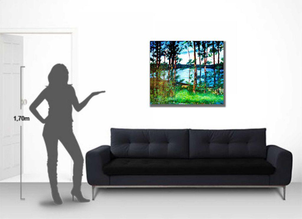 Quadro para parede decorativo pintado a mão